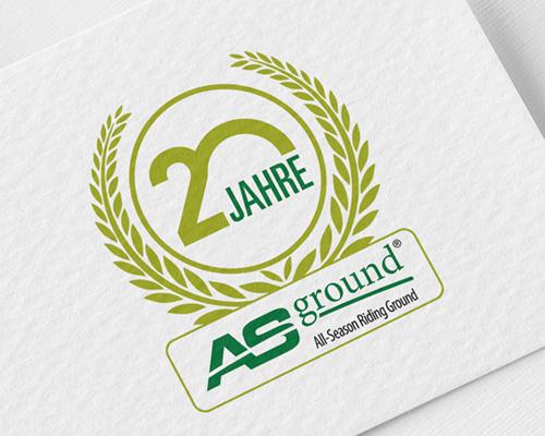 Signetentwicklung zum 20jaehrigen Jubilaeum ASground