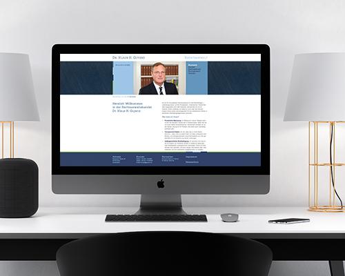 Webdesign Rechtsanwaltskanzlei Dr. Klaus H. Guyenz