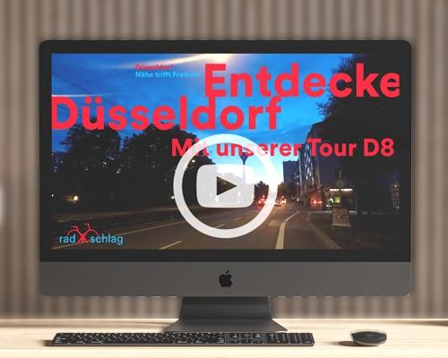 RADschlag Film ueber die Fahrradtour D8 Nachts durch Duesseldorf